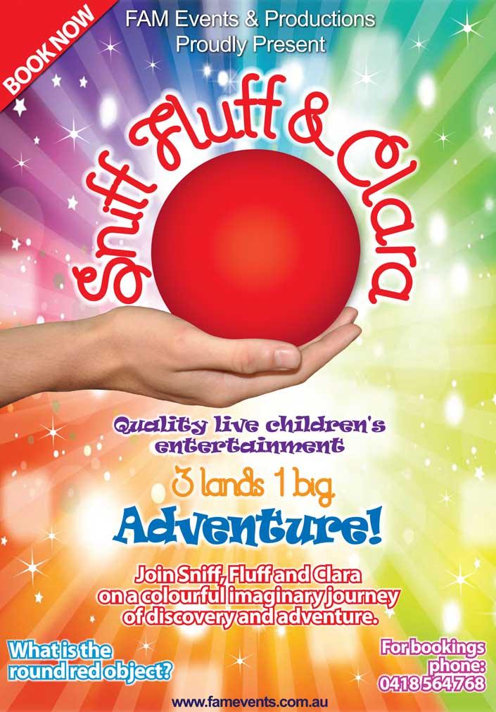 Sniff Fluff & Clara - Media Poster