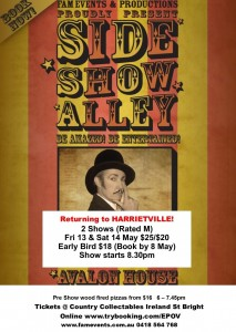 Sideshow Alley 13 14 May 2016