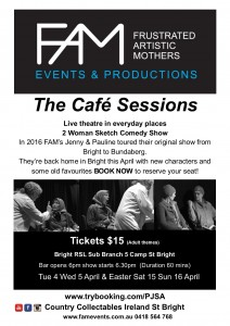 The Cafe Sessions RSL Bright April 17
